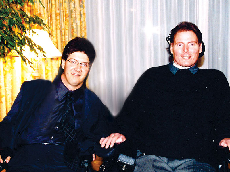 Mike Nemesvary and Christopher Reeve